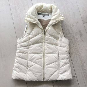 Kenneth Cole Ivory Puffer Vest